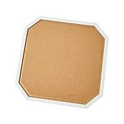 "Martha Stewart Cork Display Board, 14"" x 14"", Cork/White (MS104F)"