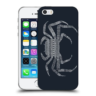 Official FLORENT BODART ANIMAL LINES Crab Blue Soft Gel Case for Apple iPhone 5 / 5s / SE (C_D_1AF76)