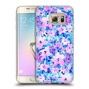 Official JACQUELINE MALDONADO PATTERNS Floreale Blue Pink Soft Gel Case for Samsung Galaxy S7 edge (C_1BA_1BDEE)