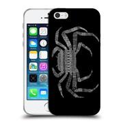 Official FLORENT BODART ANIMAL LINES Crab Black Soft Gel Case for Apple iPhone 5 / 5s / SE (C_D_1AF75)