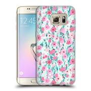 Official JACQUELINE MALDONADO PATTERNS Flower Field Pink Mint Soft Gel Case for Samsung Galaxy S7 edge (C_1BA_1BDEF)
