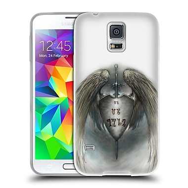 Official LA WILLIAMS KINGDOM Winged Shield Soft Gel Case for Samsung Galaxy S5 / S5 Neo (C_AB_1D595)