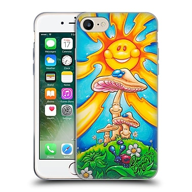 Official DREW BROPHY SURF ART Happy Mushrooms Soft Gel Case for Apple iPhone 7 (C_1F9_1ACCB)