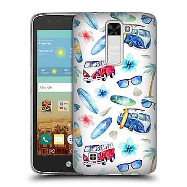 Official KRISTINA KVILIS PATTERN Beach Soft Gel Case for LG K7 K330 / Tribute 5 (C_1BE_1DE14)