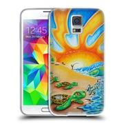 Official DREW BROPHY SURF ART 2 Turtle Beach Soft Gel Case for Samsung Galaxy S5 / S5 Neo (C_AB_1ACD7)