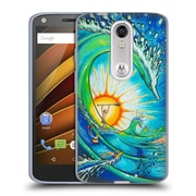 Official DREW BROPHY SURF ART 2 The Wedge Soft Gel Case for DROID Turbo 2 / X Force (C_1C3_1ACD4)