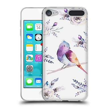 Official KRISTINA KVILIS BIRDS Bohemian Floral Bouquets 2 Soft Gel Case for Apple iPod Touch 6G 6th Gen (C_157_1DDD8)