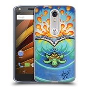 Official DREW BROPHY SURF ART 2 Tiny Turtle Soft Gel Case for DROID Turbo 2 / X Force (C_1C3_1ACD5)