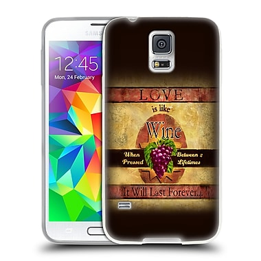 Official JOEL CHRISTOPHER PAYNE LOVE Wine Soft Gel Case for Samsung Galaxy S5 / S5 Neo (C_AB_1B3F9)