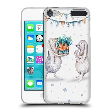 Official KRISTINA KVILIS CHRISTMAS Bunnies Soft Gel Case for Apple iPod Touch 6G 6th Gen (C_157_1DDEB)
