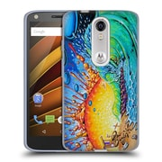 Official DREW BROPHY SURF ART Newport Tube Soft Gel Case for DROID Turbo 2 / X Force (C_1C3_1ACCC)