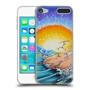 Official DREW BROPHY SURF ART Beach Party Soft Gel Case for Apple iPod Touch 6G 6th Gen (C_157_1ACC6)