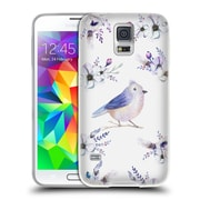 Official KRISTINA KVILIS BIRDS Bohemian Floral Bouquets 4 Soft Gel Case for Samsung Galaxy S5 / S5 Neo (C_AB_1DDDA)