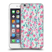 Official JACQUELINE MALDONADO PATTERNS Flower Field Pink Mint Soft Gel Case for Apple iPhone 6 Plus / 6s Plus (C_10_1BDEF)