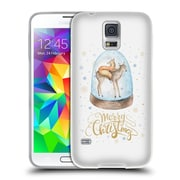 Official KRISTINA KVILIS CHRISTMAS Deer 3 Soft Gel Case for Samsung Galaxy S5 / S5 Neo (C_AB_1DDE7)