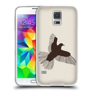 Official FLORENT BODART ANIMAL LINES Bird Beige Soft Gel Case for Samsung Galaxy S5 / S5 Neo (C_AB_1AF73)