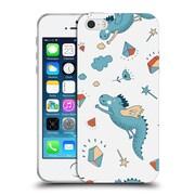 Official KRISTINA KVILIS PATTERN Dragon Soft Gel Case for Apple iPhone 5 / 5s / SE (C_D_1DE16)