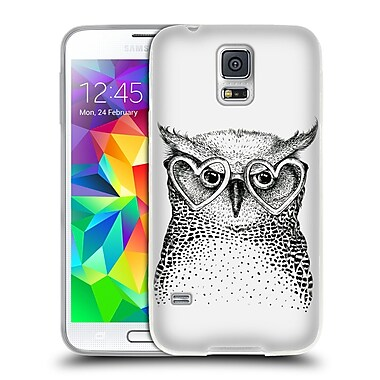 Official KRISTINA KVILIS BIRDS Owl 3 Soft Gel Case for Samsung Galaxy S5 / S5 Neo (C_AB_1DDE0)
