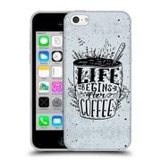 Official KRISTINA KVILIS TYPOGRAPHY Coffee Soft Gel Case for Apple iPhone 5c (C_E_1DE24)