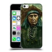 Official JOEL GRATTE ILLUSTRATION Indian War Chief Soft Gel Case for Apple iPhone 5c (C_E_1E082)