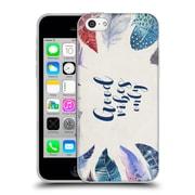 Official KRISTINA KVILIS FEATHERS Good Vibes Soft Gel Case for Apple iPhone 5c (C_E_1DE03)