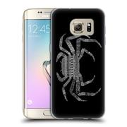 Official FLORENT BODART ANIMAL LINES Crab Black Soft Gel Case for Samsung Galaxy S7 edge (C_1BA_1AF75)