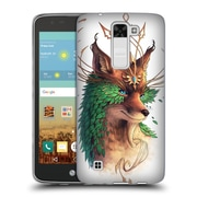 "Official JONAS ""JOJOESART"" JoDICKE WILDLIFE Fox Coloured Soft Gel Case for LG K7 K330 / Tribute 5 (C_1BE_1DBCF)"