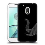 Official FLORENT BODART ANIMAL LINES Elephant Black Soft Gel Case for Motorola Moto G4 Play (C_1FB_1AF79)
