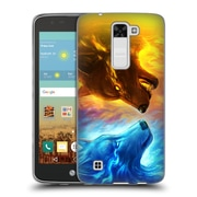 "Official JONAS ""JOJOESART"" JoDICKE WILDLIFE Fire And Ice Soft Gel Case for LG K7 K330 / Tribute 5 (C_1BE_1DBCC)"