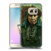 Official JOEL GRATTE ILLUSTRATION Indian War Chief Soft Gel Case for Samsung Galaxy S7 edge (C_1BA_1E082)