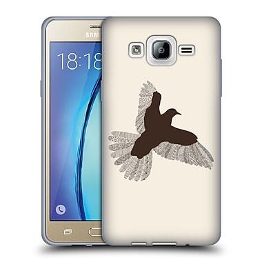 Official FLORENT BODART ANIMAL LINES Bird Beige Soft Gel Case for Samsung Galaxy On5 (C_1B7_1AF73)