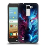 "Official JONAS ""JOJOESART"" JoDICKE WILDLIFE Wolf Galaxy Soft Gel Case for LG K7 K330 / Tribute 5 (C_1BE_1DBD5)"