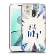 Official KRISTINA KVILIS FEATHERS Oh My Soft Gel Case for Motorola Moto G4 Play (C_1FB_1DE05)