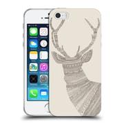Official FLORENT BODART ANIMAL LINES Stag Beige Soft Gel Case for Apple iPhone 5 / 5s / SE (C_D_1AF7C)
