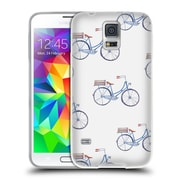 Official KRISTINA KVILIS PATTERN Bike Soft Gel Case for Samsung Galaxy S5 / S5 Neo (C_AB_1DE15)