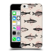 Official FLORENT BODART ANIMALS 2 Fishes In Geometrics Soft Gel Case for Apple iPhone 5c (C_E_1AF8F)