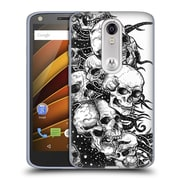 Official JOEL GRATTE BLACK AND WHITE Skulls Soft Gel Case for DROID Turbo 2 / X Force (C_1C3_1E074)