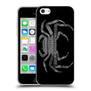Official FLORENT BODART ANIMAL LINES Crab Black Soft Gel Case for Apple iPhone 5c (C_E_1AF75)