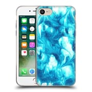 """Official JULIEN """"CORSAC"""" MISSAIRE ABSTRACT 3 Marbled Paint Flash Blue Soft Gel Case for Apple iPhone 7 (C_1F9_1AEBD)"""