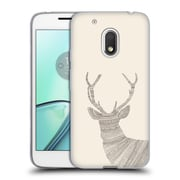 Official FLORENT BODART ANIMAL LINES Stag Beige Soft Gel Case for Motorola Moto G4 Play (C_1FB_1AF7C)