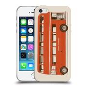 Official FLORENT BODART VEHICLES English Bus Soft Gel Case for Apple iPhone 5 / 5s / SE (C_D_1AFDA)
