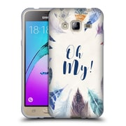 Official KRISTINA KVILIS FEATHERS Oh My Soft Gel Case for Samsung Galaxy J3 (C_1B6_1DE05)