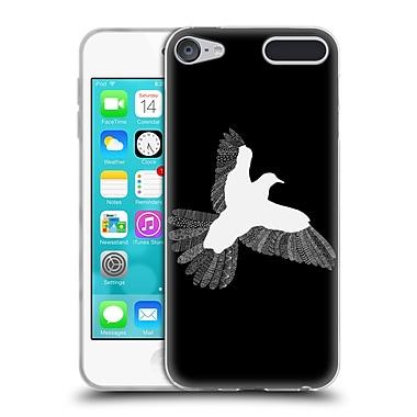 Official FLORENT BODART ANIMAL LINES Bird Black Soft Gel Case for Apple iPod Touch 6G 6th Gen (C_157_1AF71)