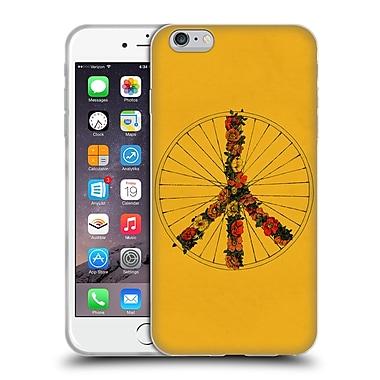 Official FLORENT BODART BIKES Peace Yellow Soft Gel Case for Apple iPhone 6 Plus / 6s Plus (C_10_1AF9A)