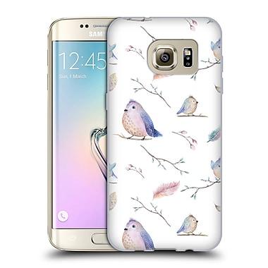 Official KRISTINA KVILIS BIRDS Pattern Soft Gel Case for Samsung Galaxy S7 edge (C_1BA_1DDDD)