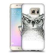 Official KRISTINA KVILIS BIRDS Owl 3 Soft Gel Case for Samsung Galaxy S7 edge (C_1BA_1DDE0)