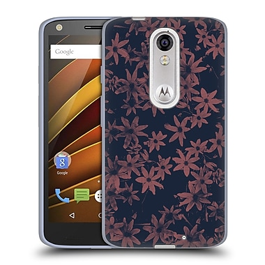 Official FLORENT BODART PATTERNS Flowers At Dawn Soft Gel Case for DROID Turbo 2 / X Force (C_1C3_1AFBB)