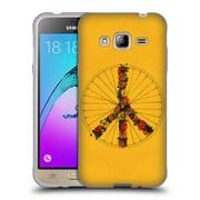 Official FLORENT BODART BIKES Peace Yellow Soft Gel Case for Samsung Galaxy J3 (C_1B6_1AF9A)