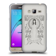 Official FLORENT BODART MUSIC Reine Des Cygnes Grey Soft Gel Case for Samsung Galaxy J3 (C_1B6_1AFB7)