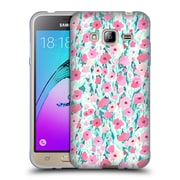 Official JACQUELINE MALDONADO PATTERNS Flower Field Pink Mint Soft Gel Case for Samsung Galaxy J3 (C_1B6_1BDEF)